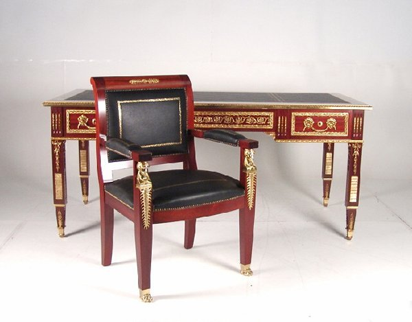 21: French Empire Style Desk and Chair