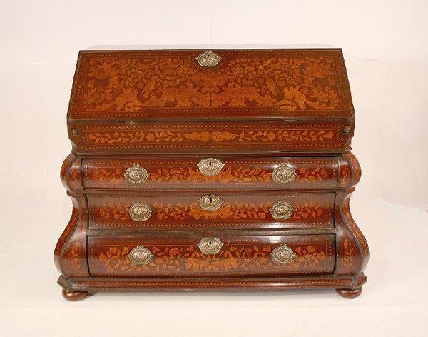 51: 19th Century German Marquetry Desk