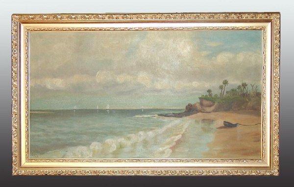 "79: O/C ""American Seascape"" by George Washington Smith"
