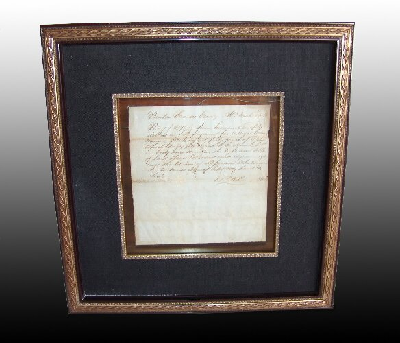 196: Original Bill of Sale for Slave, 1836