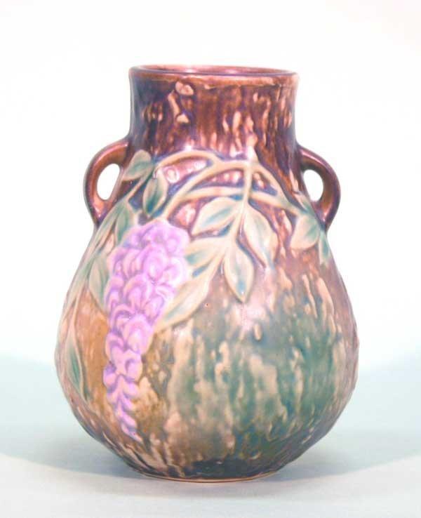 "2: Roseville Wisteria Vase. 6.5""h. Good Condition"