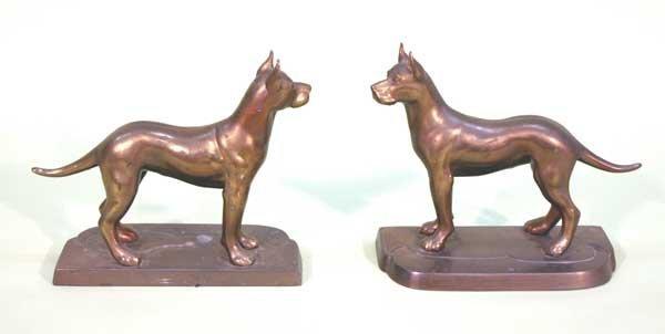 "5: Pair Bronze Dogs 7""h x 7.5""l"