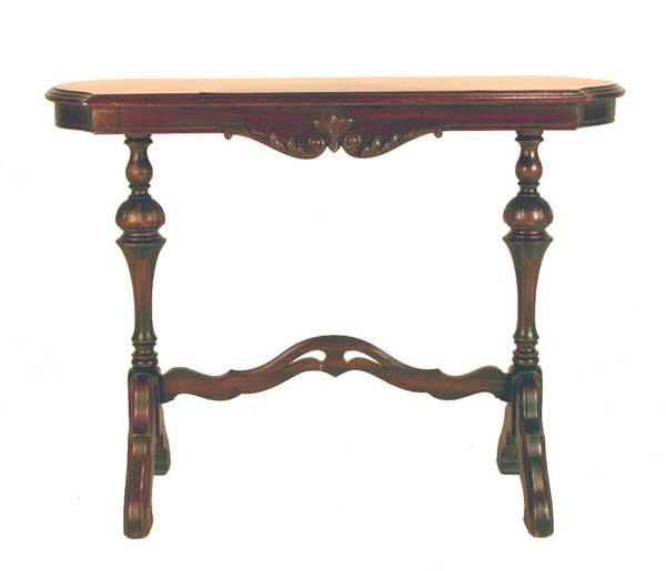 "18: Carved Walnut Sofa Table. Circa 1920. 30""h x 39.5""l"
