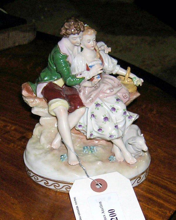 "200: German Porcelain Dating Scene Figurine 5.5""h"