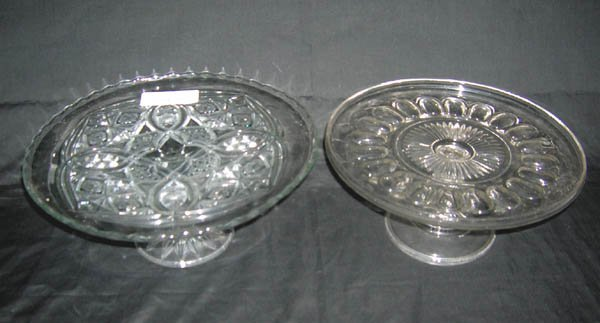 206: Two Glass Cake Plates