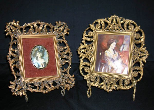 """209: Pair Decorative Portraits Marked """"A Cameo Creation"""