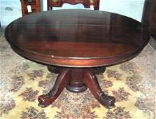 279: Antique Mahogany Dolphin Base Dining Room Table