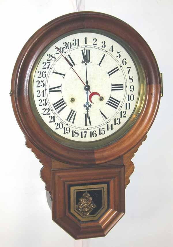 "6: School House Regulator Clock. 28.5""h x 17""w"