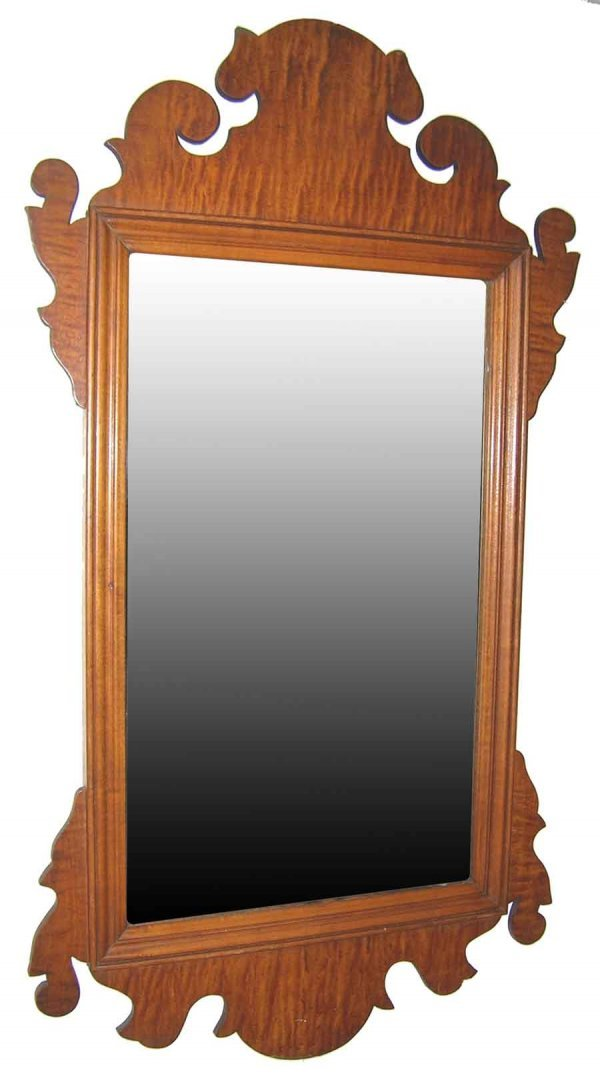 "1: Mahogany Chippendale Mirror 18.5""h x 12""w"