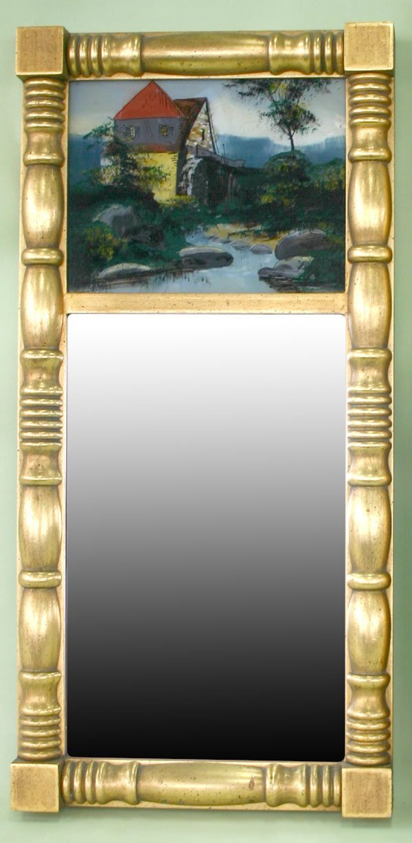 15: Empire Style Pier Mirror with Reverse Painted Lands