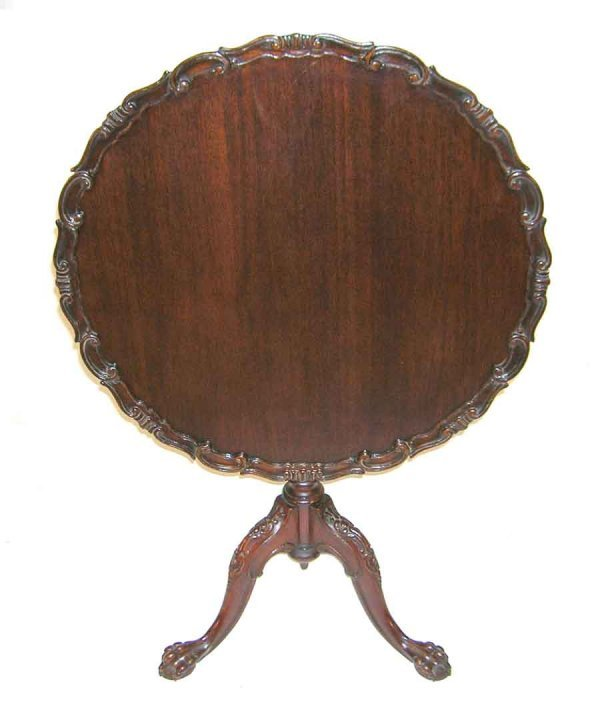 19: Early 20th C Mahogany Pie Crust Tilit Top Table. 28