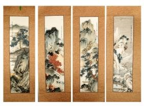 (4) ATTRIBUTED AND SIGNED LIU XIANCHEN. A INK AND