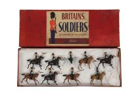(9 PC) BOXED SET OF BRITAINS TOY LEAD SOLDIERS - #100,