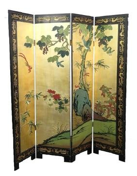 CHINESE FOUR SCREEN PANEL .M010