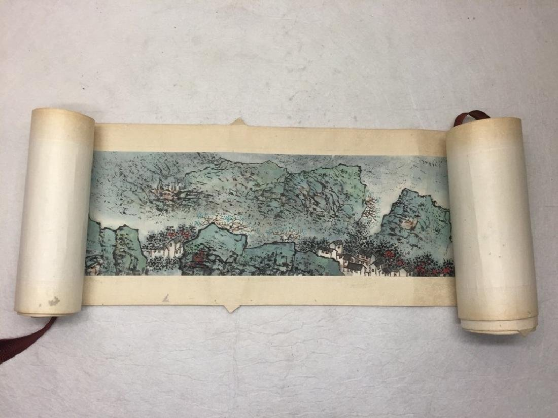 ATTRIBUTED AND SIGNED WU CHENGKAI. A INK AND COLOR ON