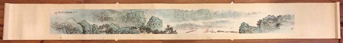 ATTRIBUTED AND SIGNED WU CHENGKAI. A INK AND COLOR ON - 2