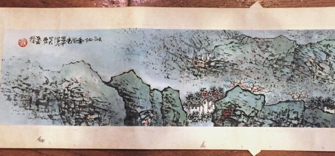 ATTRIBUTED AND SIGNED WU CHENGKAI. A INK AND COLOR ON - 3