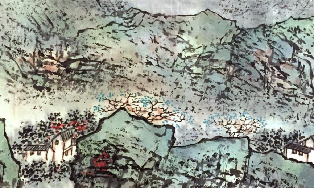 ATTRIBUTED AND SIGNED WU CHENGKAI. A INK AND COLOR ON - 4