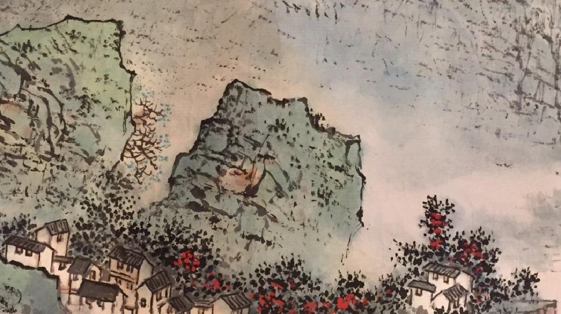 ATTRIBUTED AND SIGNED WU CHENGKAI. A INK AND COLOR ON - 5
