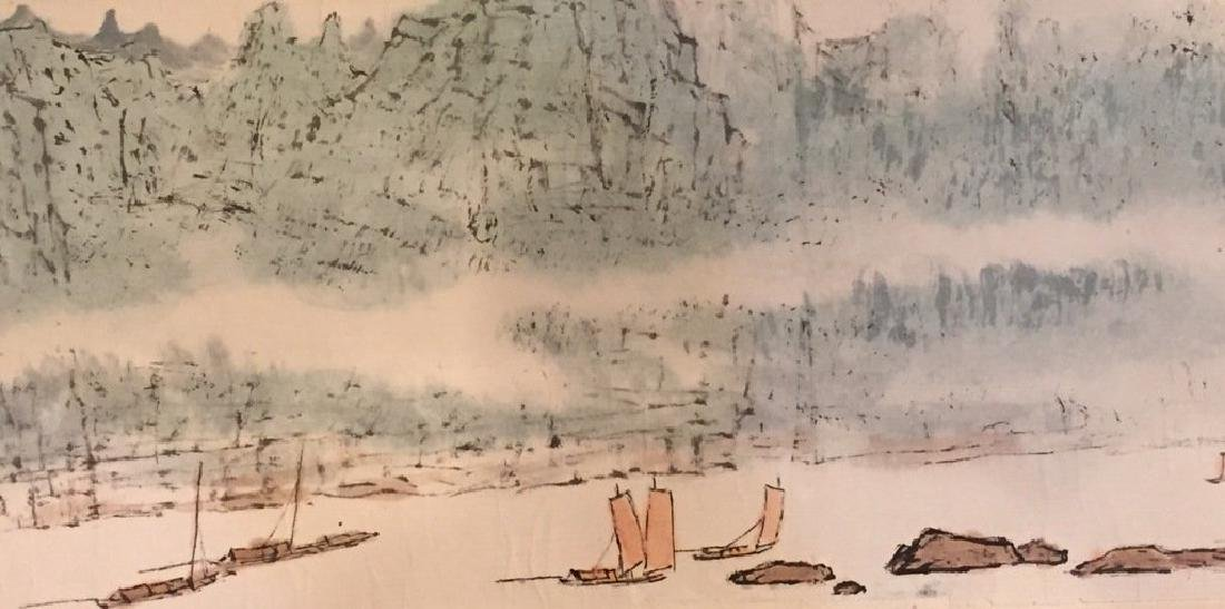 ATTRIBUTED AND SIGNED WU CHENGKAI. A INK AND COLOR ON - 6