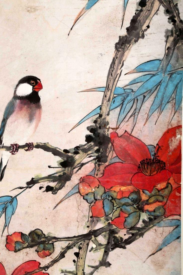 SIGNED TIAN SHIGUANG (1916-1999). A INK AND COLOR ON - 3