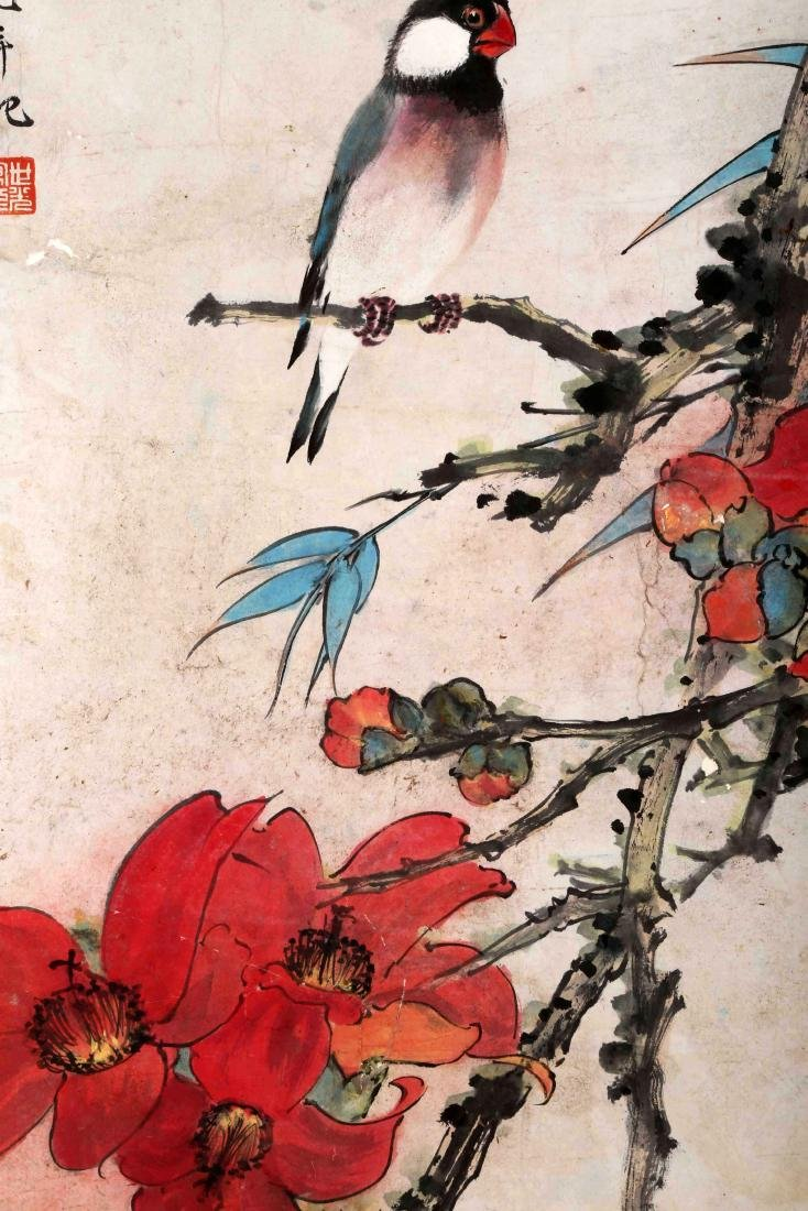 SIGNED TIAN SHIGUANG (1916-1999). A INK AND COLOR ON - 4