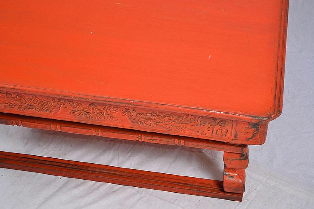 OLD CHINESE RED MARCH AND TRAVEL FOLDING TABLE. - 2