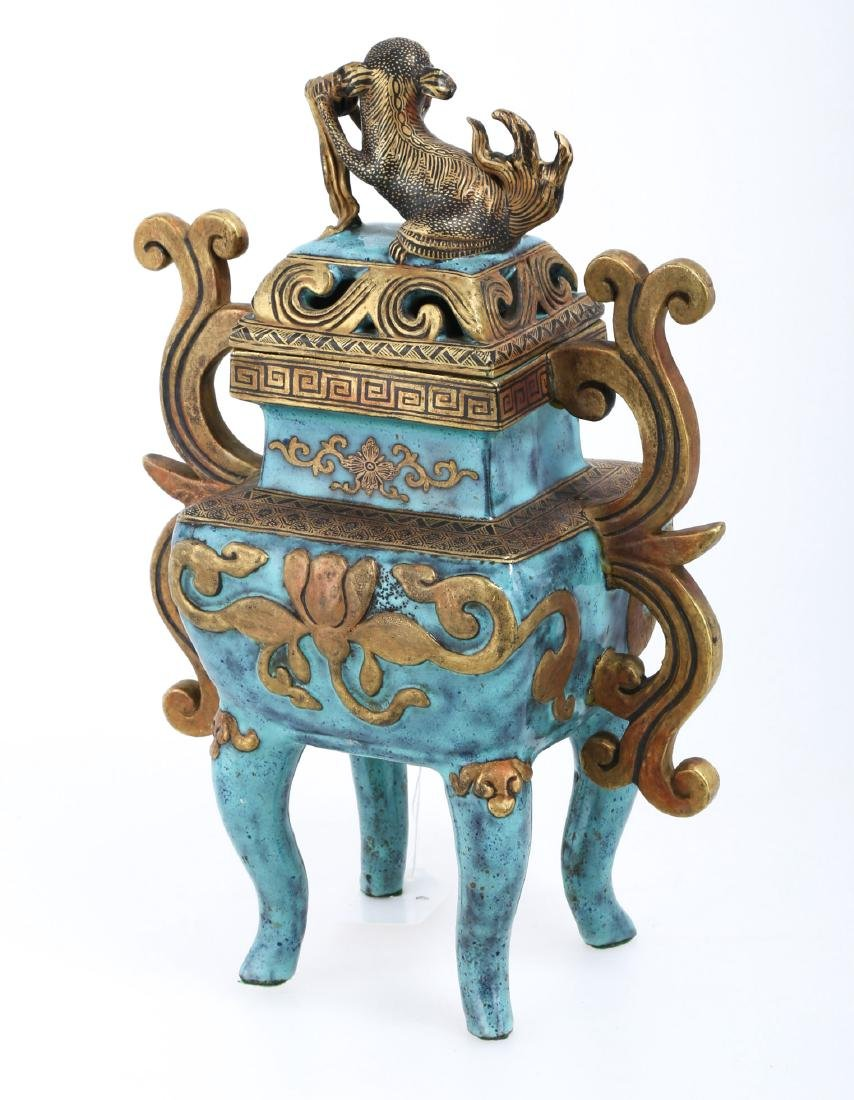 A CHINESE POTTERY CENSER - 2