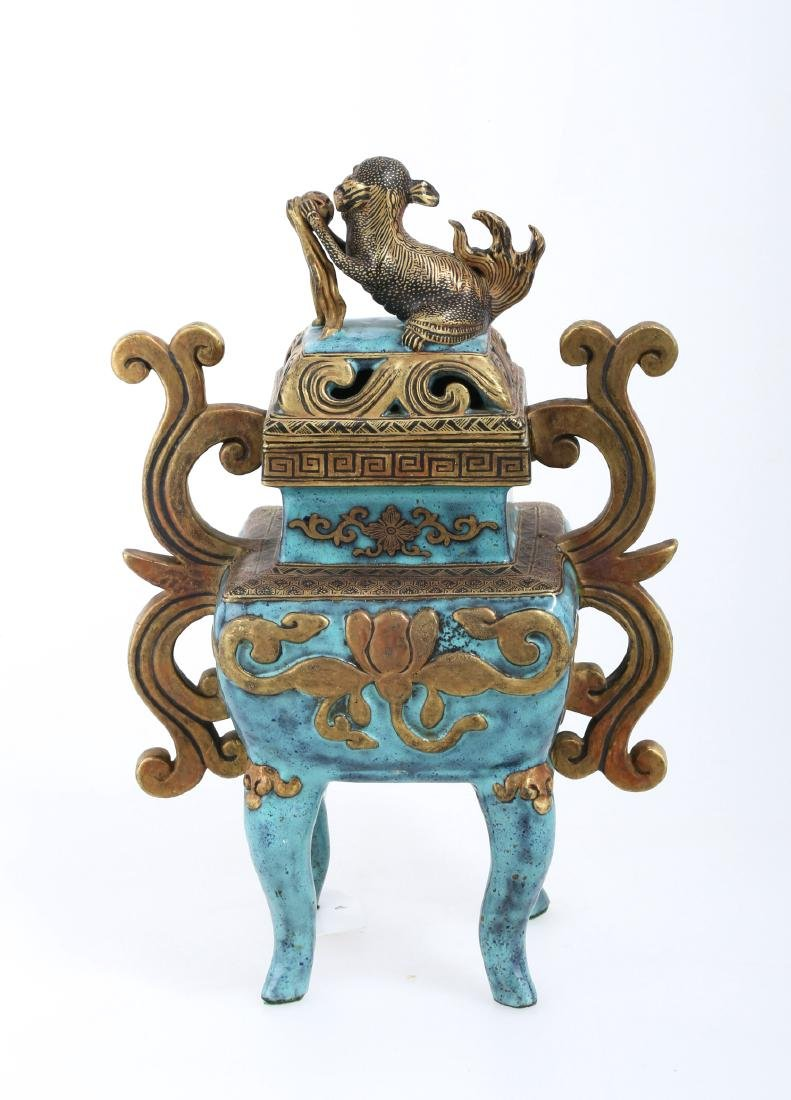 A CHINESE POTTERY CENSER - 3