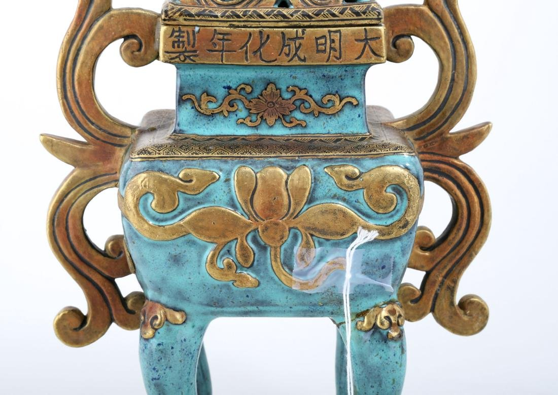A CHINESE POTTERY CENSER - 5