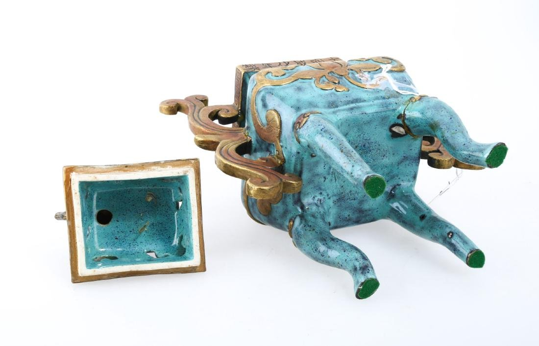 A CHINESE POTTERY CENSER - 7