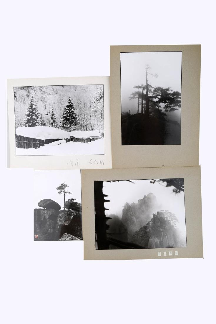 (4)  A SET OF FOUR CHINESE PHOTOS BY WU WEI