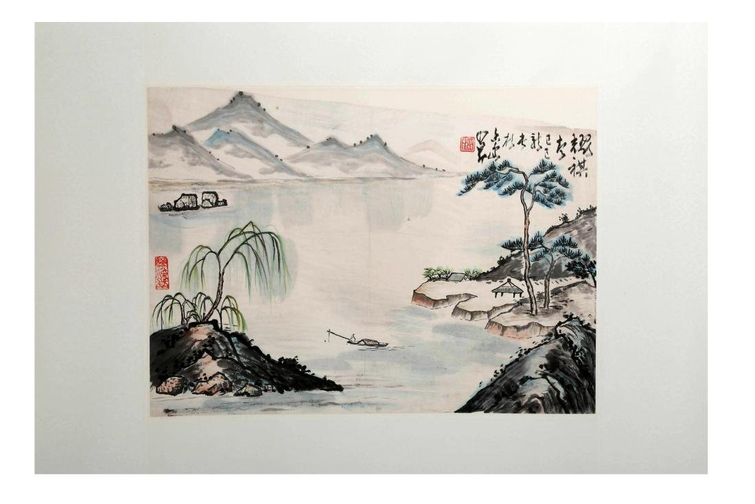 IGNED YAO QI AND ZHAO SHAOANG (1905-1998). A INK AND