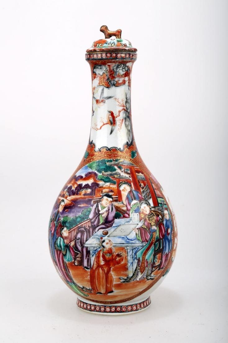 A KWON-GLAZED PORCELAIN WATER BOTTLE AND COVER.C276. - 2