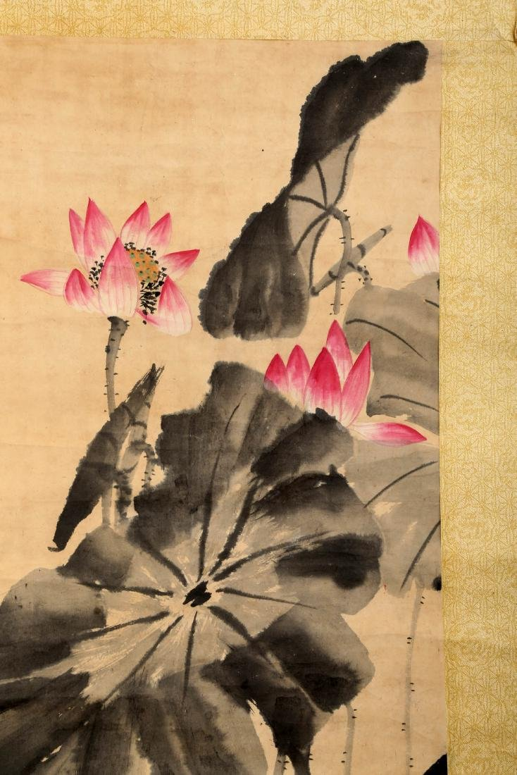 SIGNED LOU SHIBAI (1918-2010). A INK AND COLOR ON PAPER - 4