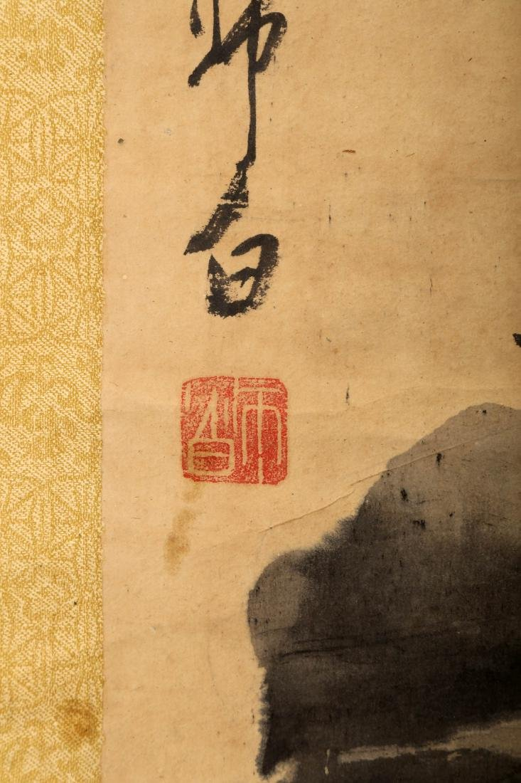 SIGNED LOU SHIBAI (1918-2010). A INK AND COLOR ON PAPER - 7