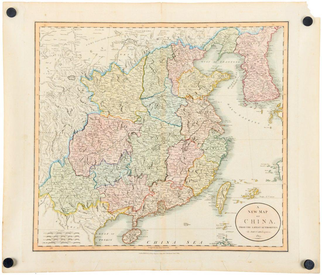A CARY MAP OF CHINA 1819.B019.