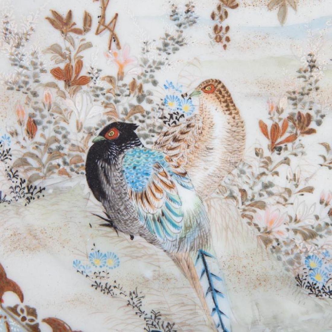 (2)  A PAIR OF JAPANESE KUTANI PORCELAIN PLATES.C224. - 4