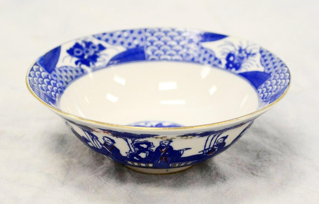 A MING STYLE BLUE AND WHITE PORCELAIN BOWL.C194. - 3