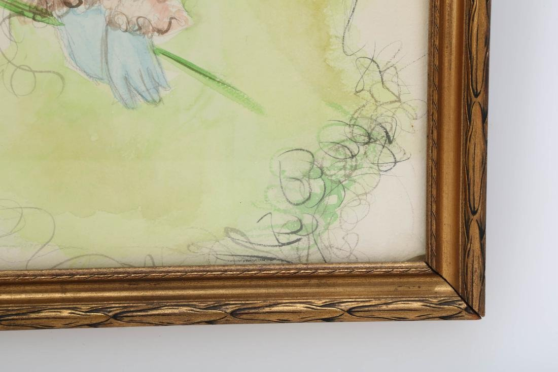 Green Fairy, Watercolor on Paper.FRAMED.OH011. - 4