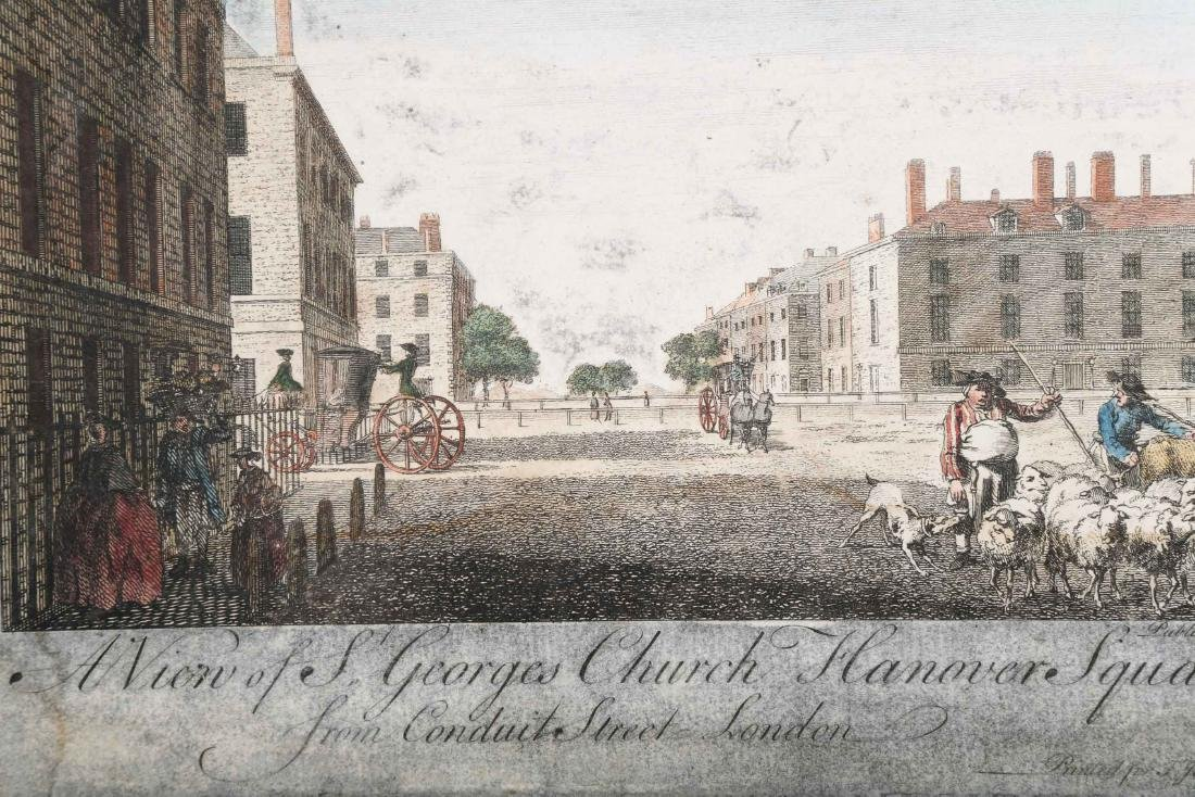 """A ENGLISH ENGRAVING """"VIEW OF ST. GEORGE"""" BOYDELL, 18TH - 5"""