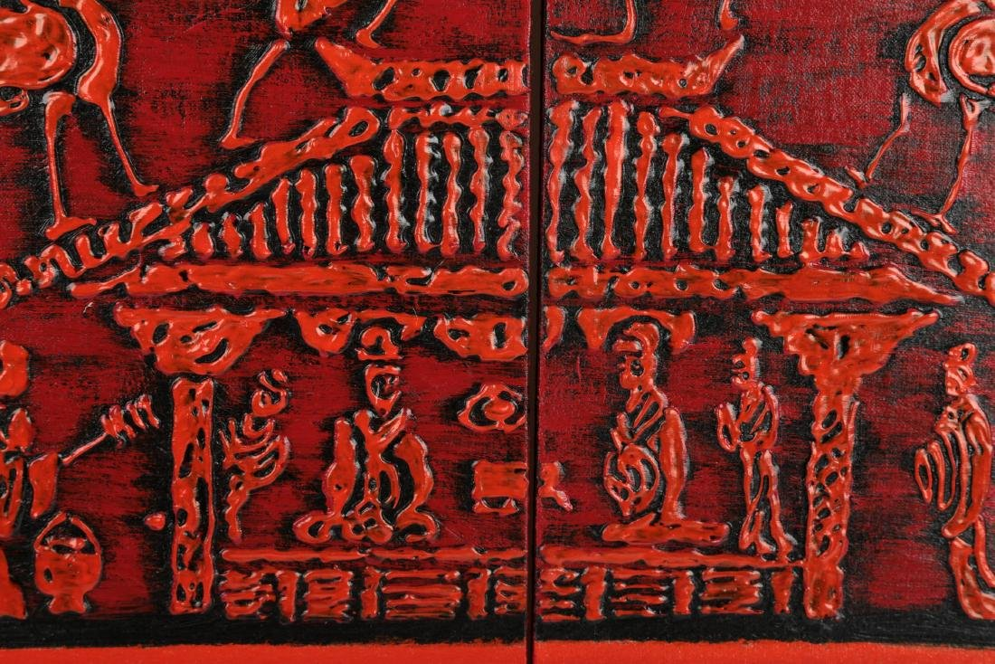 (2) A PAIR OF OIL PAINTINGS WORKS DEPICTING CHINESE HAN - 6