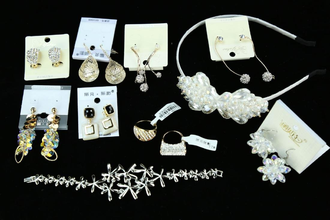 (18)  FINE CRYSTAL, METAL AND JEWELED JEWELRY --- A SET