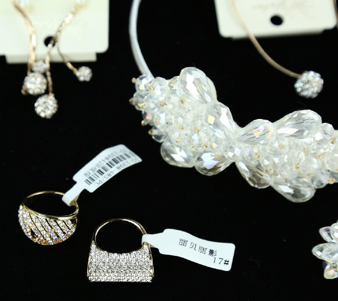 (18)  FINE CRYSTAL, METAL AND JEWELED JEWELRY --- A SET - 2