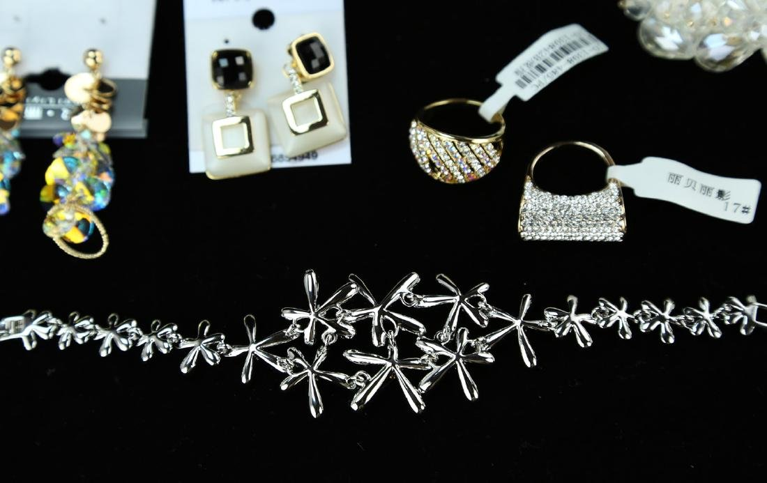 (18)  FINE CRYSTAL, METAL AND JEWELED JEWELRY --- A SET - 4