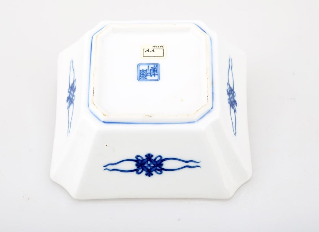 A JAPANESE BLUE AND WHITE PORCELAIN SQUARE PLATE.THE - 6