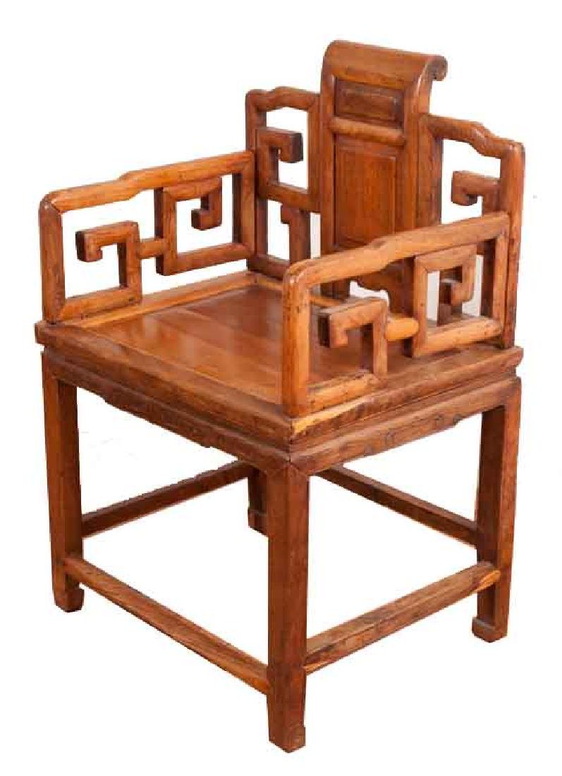 A MING-DYNASTY STYLE HUANGHUALI FAUTEUIL (CHAIR).M022.
