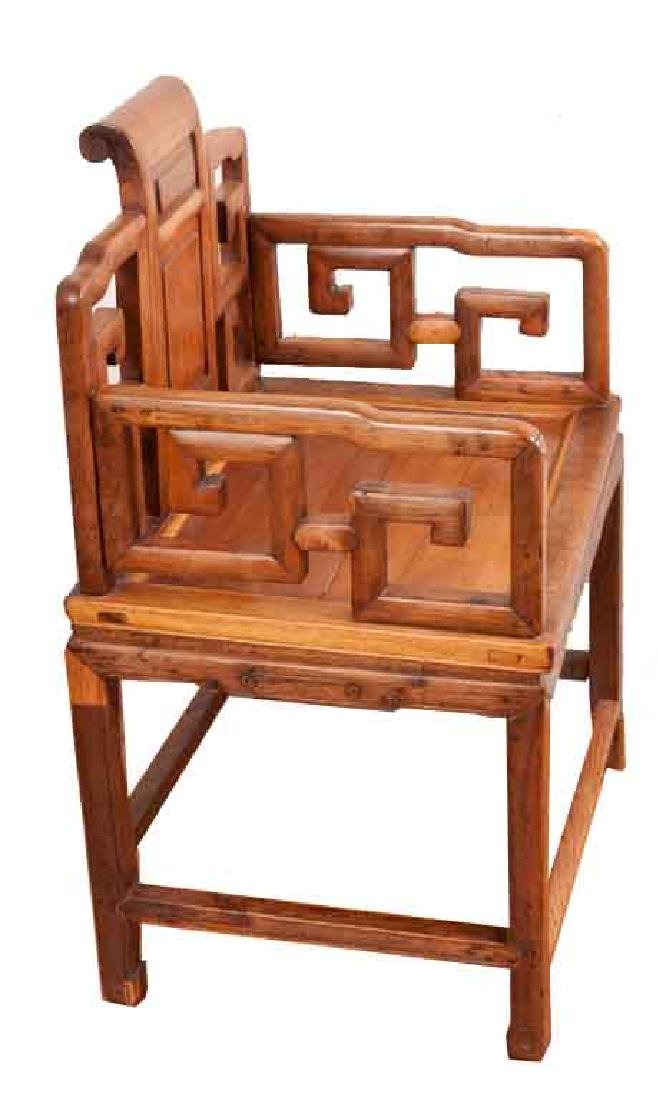 A MING-DYNASTY STYLE HUANGHUALI FAUTEUIL (CHAIR).M022. - 2