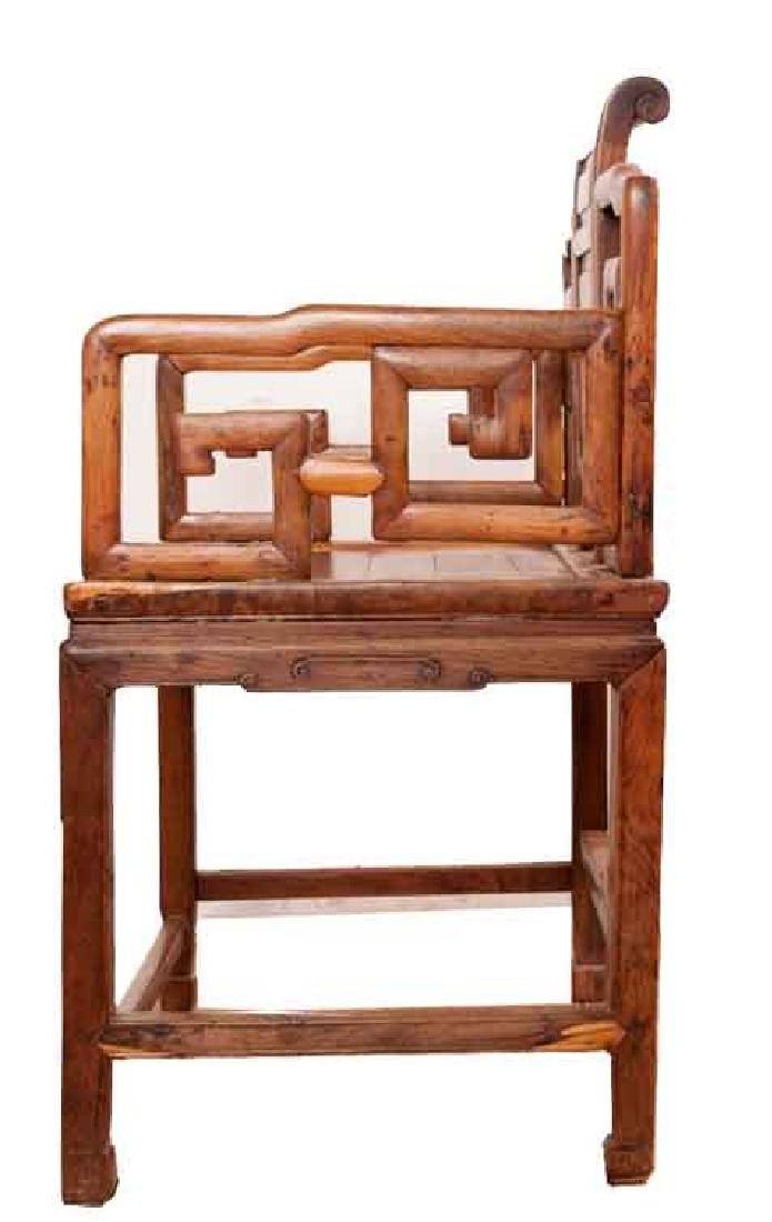 A MING-DYNASTY STYLE HUANGHUALI FAUTEUIL (CHAIR).M022. - 3