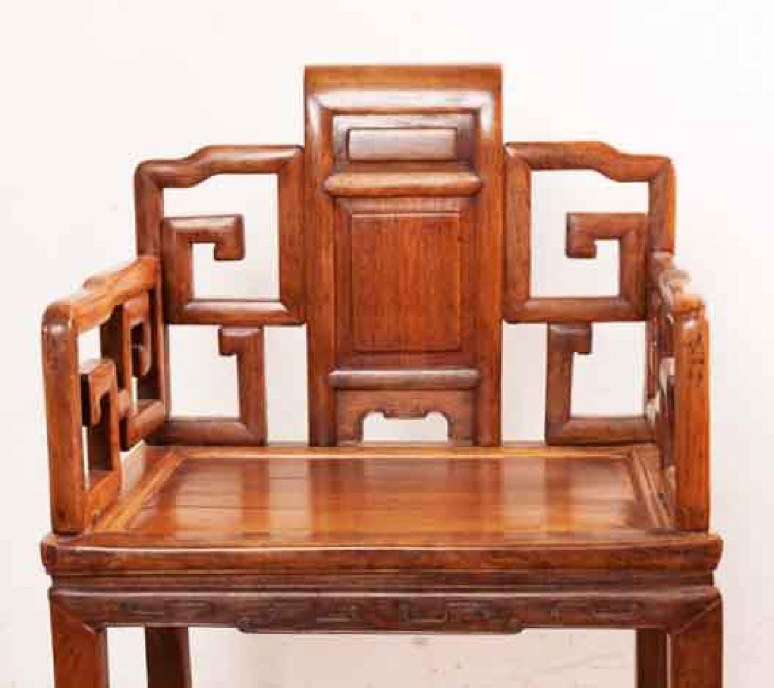 A MING-DYNASTY STYLE HUANGHUALI FAUTEUIL (CHAIR).M022. - 4